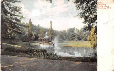 Congress Spring Park Saratoga, New York Postcard