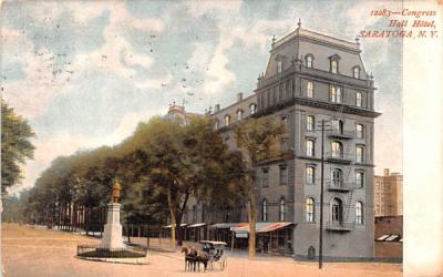 Congress Hall Hotel Saratoga, New York Postcard