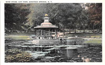 Band Stand Saratoga Springs, New York Postcard