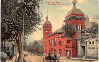 Convetion Hall Saratoga Springs, New York Postcard