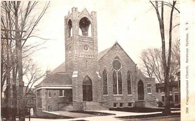 Congregational Church Saratoga Springs, New York Postcard