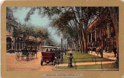 Broadway Saratoga Springs, New York Postcard