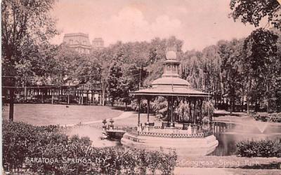 Congress Spring Park Saratoga Springs, New York Postcard