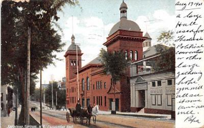 Convention Hall Saratoga Springs, New York Postcard