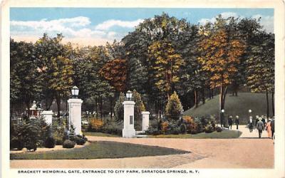 Brackett Memorial Gate Saratoga Springs, New York Postcard