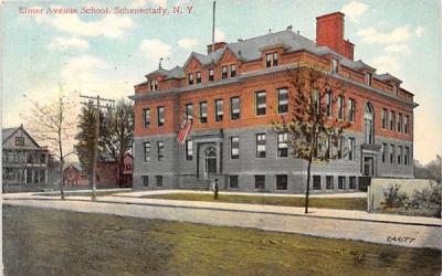 Elmer Avenue School Schenectady, New York Postcard