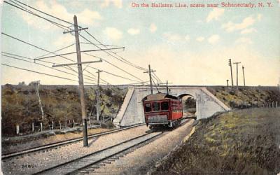 Ballston Line Schenectady, New York Postcard