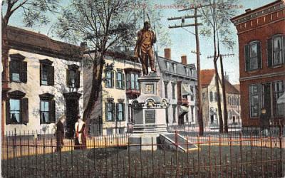 Indian Statue Schenectady, New York Postcard