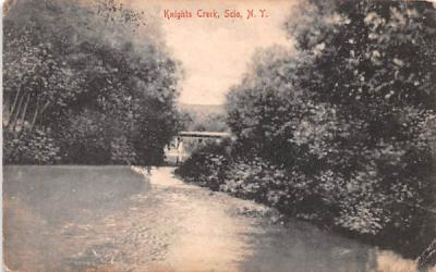 Knights Creek Scio, New York Postcard
