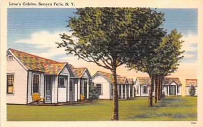 Lane's Cabins Seneca Falls, New York Postcard