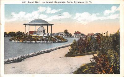 Band Stand on Island Syracuse, New York Postcard