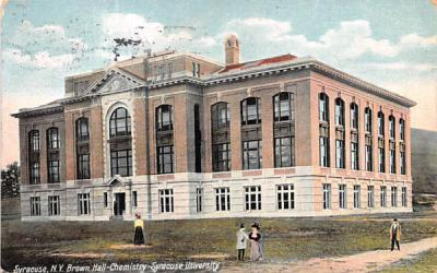 Brown Hall-Chemistry Syracuse, New York Postcard
