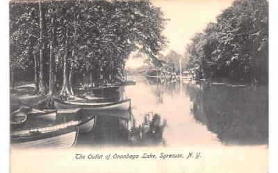 The Outlet of Onondaga Lake Syracuse, New York Postcard