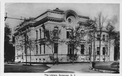 The Library Syracuse, New York Postcard