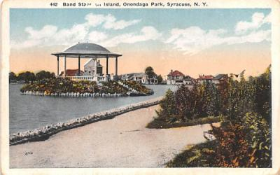 Band Stand on Isand Syracuse, New York Postcard
