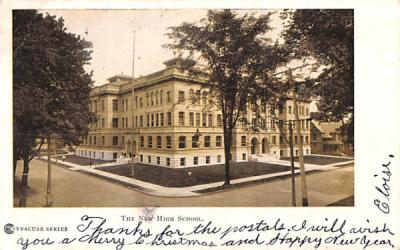 The New High School Syracuse, New York Postcard