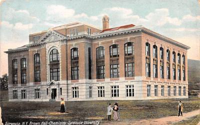 Brown Hall, Chemistry Syracuse, New York Postcard