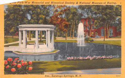 Congress Park War Memorial Saratoga Springs, New York Postcard