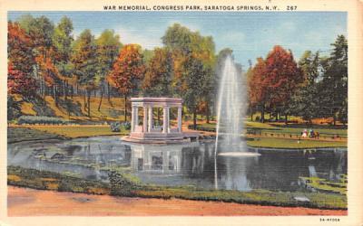 Congress Park Saratoga Springs, New York Postcard