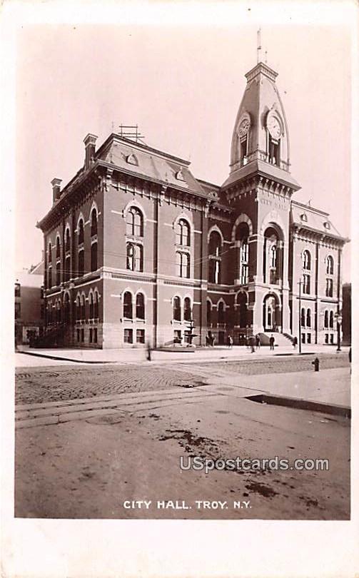 City Hall - Troy, New York NY Postcard