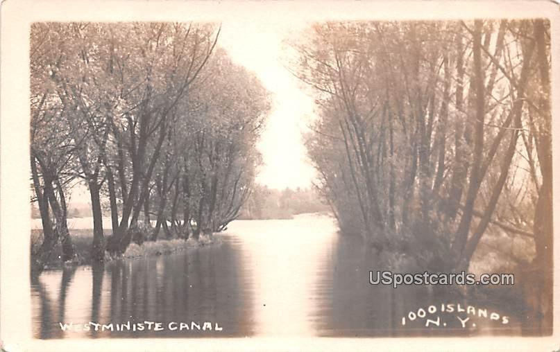Westministe Canal - Thousand Islands, New York NY Postcard