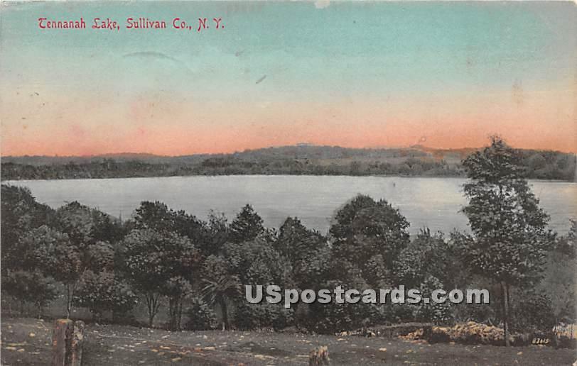 Lake View - Tennanah Lake, New York NY Postcard
