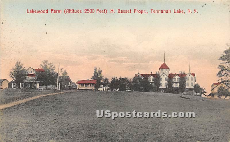 Lakewood Farm - Tennanah Lake, New York NY Postcard
