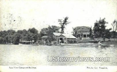 Lake View Cottage & Bldg - Thompsons Lake, New York NY Postcard