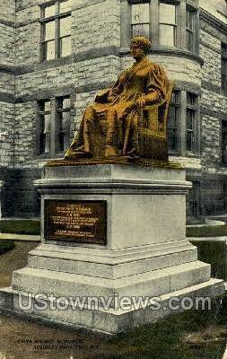 Emma Willard Monument - Troy, New York NY Postcard