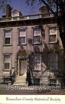 Rensselaer County Historical Society - Troy, New York NY Postcard