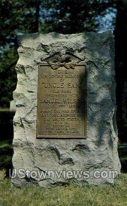 Uncle Sam's Grave - Troy, New York NY Postcard