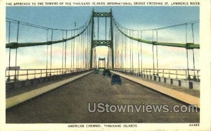 American Channel - Thousand Islands, New York NY Postcard