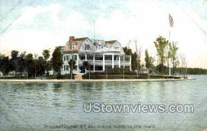 Alex Peacock Residence, Belle Island - Thousand Islands, New York NY Postcard