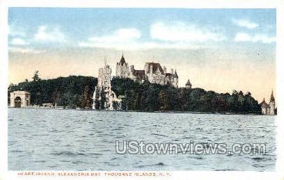 Heart Island, Alexandria Bay - Thousand Islands, New York NY Postcard