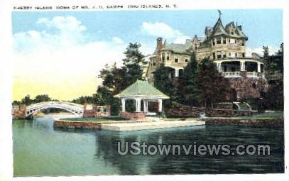 Cherry Island - Thousand Islands, New York NY Postcard