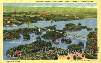 International Bridge - Thousand Islands, New York NY Postcard