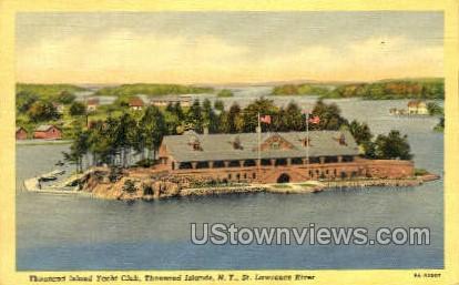 Thousand Island Yacht Club - Thousand Islands, New York NY Postcard