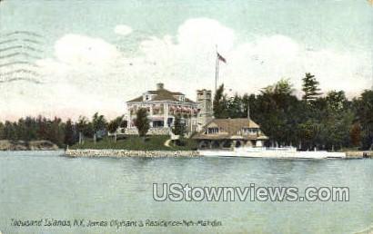 James Oliphant's Residence - Thousand Islands, New York NY Postcard