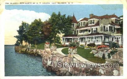 Ina Island - Thousand Islands, New York NY Postcard
