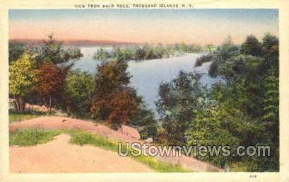 Bald Rock - Thousand Islands, New York NY Postcard