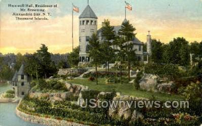 Hopewell Hall, Alexandria Bay - Thousand Islands, New York NY Postcard