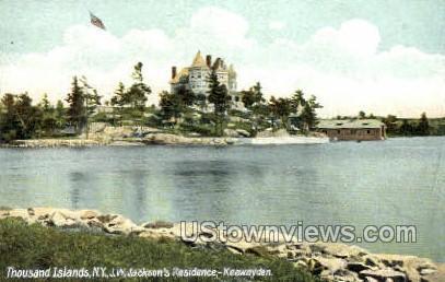 J.W. Jackson's Residence - Thousand Islands, New York NY Postcard