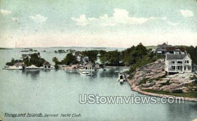 Gernell Yacht Club - Thousand Islands, New York NY Postcard