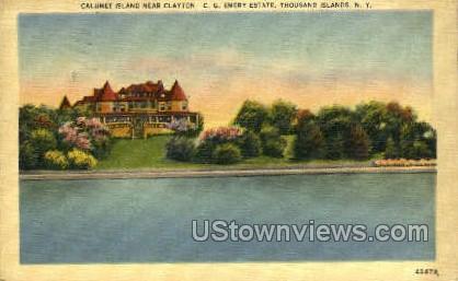 Calumet Island, Clayton - Thousand Islands, New York NY Postcard