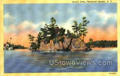 Devil's Oven - Thousand Islands, New York NY Postcard