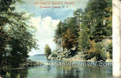Canadian Channel - Thousand Islands, New York NY Postcard