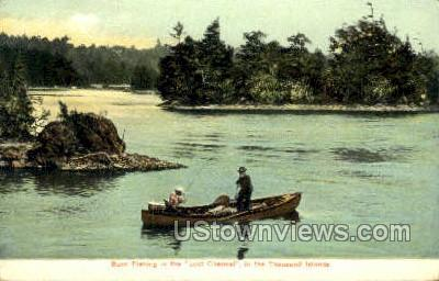 Loss Channel - Thousand Islands, New York NY Postcard