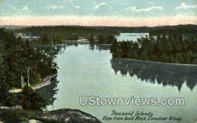 Bald Rock, Canadian Group - Thousand Islands, New York NY Postcard