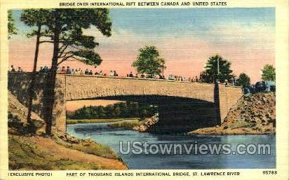Thousand Islands International Bridge - New York NY Postcard