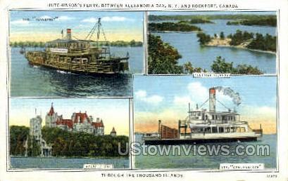 Canadian Islands, Heart Islands - Thousand Islands, New York NY Postcard
